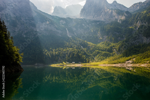 Foto Murales Bergsee Alpen Österreich Berge See Landschaft