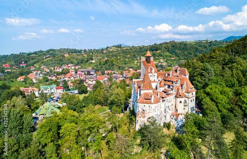 Leinwandbild Motiv Dracula castle in Bran - Transylvania, Romania