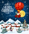 Santa Claus on Christmas balloon