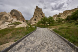 Goreme, Turkey - there are about 350 churches and chapels from Byzantine times, carved in soft rock, characteristic of Cappadocia. The place is on the UNESCO World Heritage List