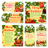 Christmas holiday party tag and greeting card - 222380527