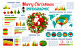 Christmas holiday infographic vector poster