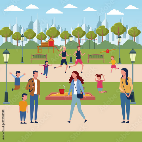 Families in park - 222382997