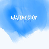 abstract blue watercolor background design - 222384308