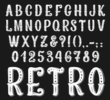 Vector vintage retro font letters and numbers - 222386797