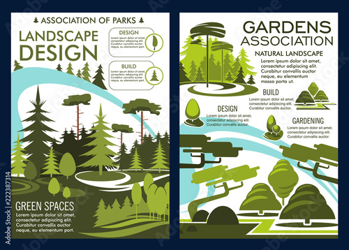 Wall mural Nature landscape design service green park posters