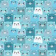 Hand Drawn Bears Vector Pattern Background. Fun Doodle. - 222394929