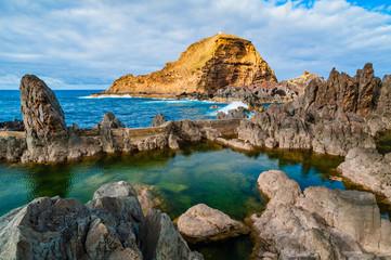Natural swimming pools in Porto Moniz. Madeira. Portugal