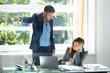 Quadro Businessman Firing Upset Female Employee
