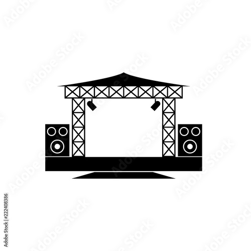 Outdoor Concert Stage Vector Icon