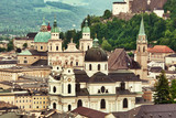 View to Salzburg old town with historic buildings - 222410571