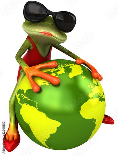 Fun frog - 3D Illustration - 222411550
