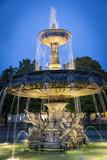 Brunnen auf dem Schlossplatz in Stuttgart, Deutschland