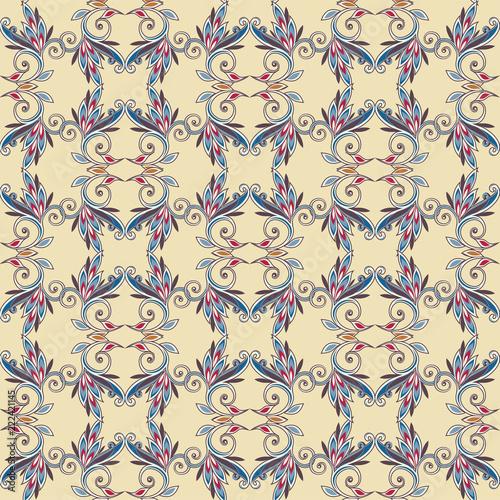 Naklejka Seamless vintage borders. Traditional East style, ornamental floral elements. Ornamental floral elements for design card, invitation, brochure, book, magazine.