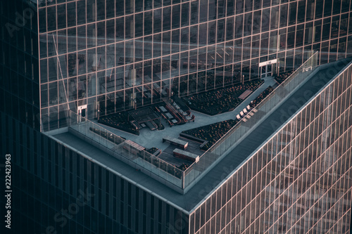Foto Murales aerial view of a balcony in New York
