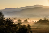 Agricultural field. Morning sunrise over rural countryside landsacpe. - 222430982
