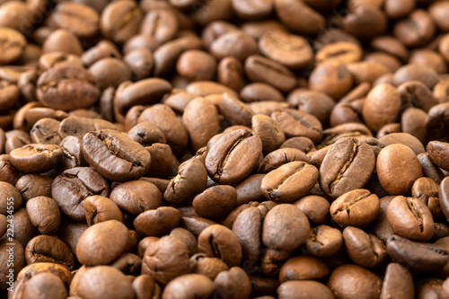 Sticker Brown roasted coffee beans