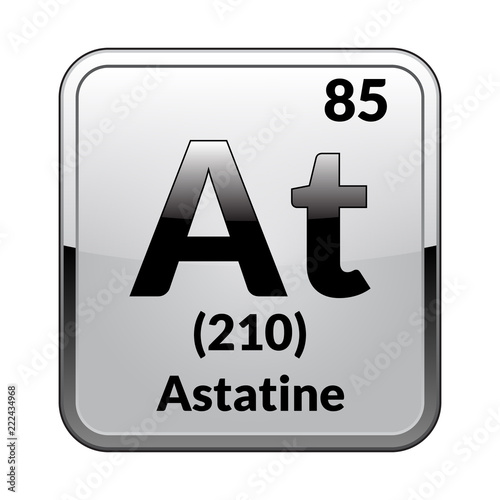 The Periodic Table Element Astatine Vector Illustration Buy