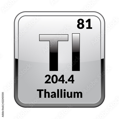The Periodic Table Element Thallium Vector Illustration Buy