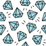 kamienie szlachetne diamenty brylanty turkusowy powtarzalny nieskończony deseń - 222436566