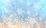 Christmas background with snowflakes - 222440347