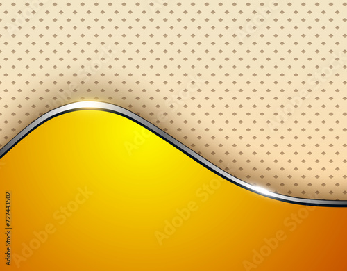 Orange business background, elegant with wave and dots pattern