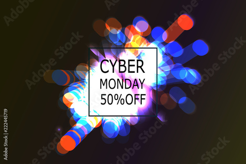 Cyber Monday Sale label.