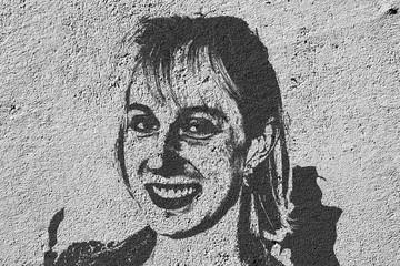 Street art. Portrait d'une jeune femme