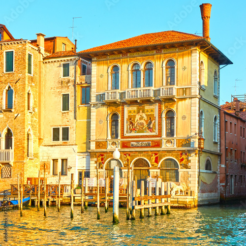 Buildings by the Grand Canal in Venice - 222456983