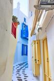 Small side street in Mykonos - 222457107