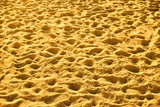 Sandy beach with footprints - 222457140
