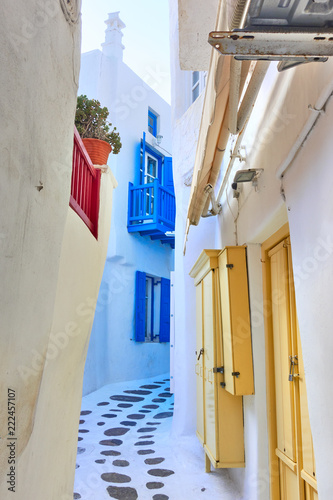 Small side street in Mykonos - 222457107