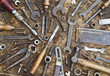 Old Tools And Fasteners Background