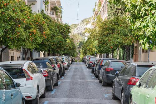 Fototapeta A street in Athens. Greece.