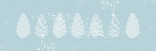 Christmas Tree Cone Painting  Winter Textures Sticker