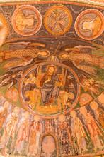 "Постер, картина, фотообои ""Fresco in Church of the Cross, Crusader Church at Rose valley. Cappadocia. Nevsehir Province"""