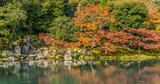 Autumn colors at Sogenchi Garden at Tenryu-ji temple..Designated as a Special Place of Scenic Beauty and UNESCO World Heritage Site - 222470340