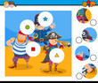 match pieces puzzle game with pirates - 222472915