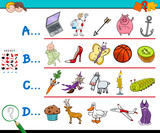 first letter of a word educational game for children - 222472949
