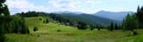 Ukraina, Karpaty Wschodnie - góry Gorgany Środkowe, górska panorama na Przełęczy Legionów (Rogodze Wielkie)