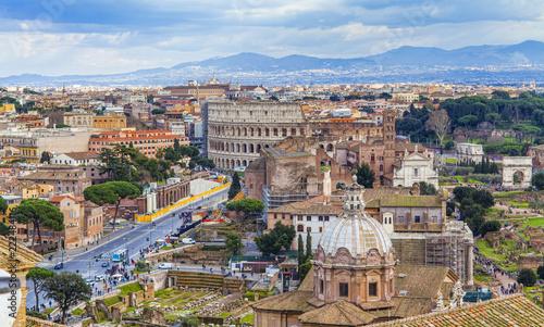pejzaż miasta Rzym, Włochy. widok z lotu ptaka