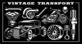 Set of vintage transportation - 222484585