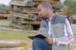 grading the lumber - 222485907
