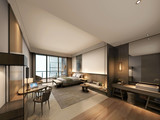 3d render of modern hotel room - 222487160