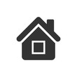 House building icon in flat style. Home apartment vector illustration on white isolated background. House dwelling business concept.