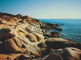 Rocky seashore of Karidi beach, Vourvourou, Greece