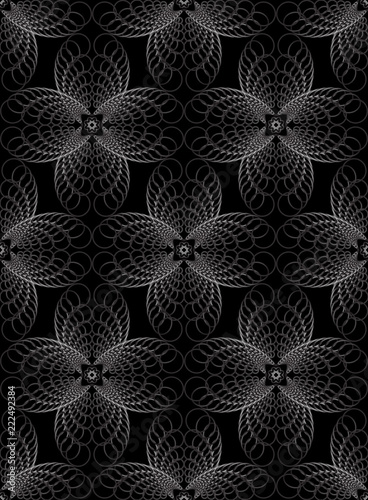 Abstract geometric halftone seamless pattern concentric circles - 222492384