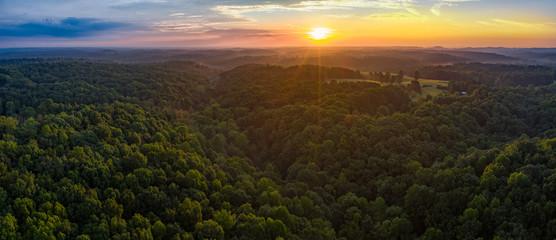 sunset over hills in TN © jdross75