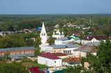 The view of the city Gorokhovets and Sretensky monastery. Vladimir region, Russia - 222507708