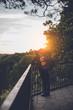 wanderer Sonnenuntergang genießen aussicht bastei